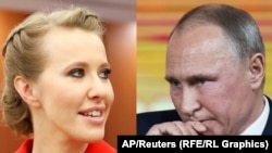 Two sides of the same coin? Ksenia Sobchak and Vladimir Putin