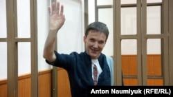 Надія Савченко у залі суду в Донецьку Ростовської області Росії. 21 березня 2016 року