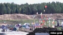 Лагерь активистов в Шиесе