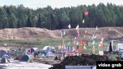 Лагерь экоактивистов в Шиесе