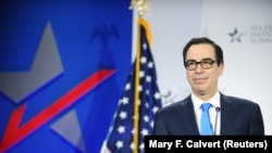 U.S. -- U.S. Treasury Secretary Stephen Mnuchin delivers a speech at SelectUSA Investment Summit in Washington, June 12, 2019
