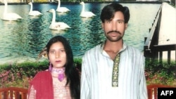 Shahzad Masih (right) and Shama Shahzad were burned alive in an industrial kiln in 2014.