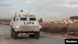 Ілюстративне фото. Миротворці ООН патрулюють територію поблизу кордону з Ізраїлем. Ліван, січень 2015 року