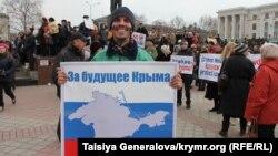 La Simferopol, după anexarea Crimeii de către Rusia