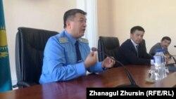 Облыс прокурорының бірінші орынбасары Айдос Майлыбаев. Ақтөбе. 25 мамыр 2018 жыл