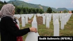 Prizor iz Memorijalnog centra Potočari, 9. juli 2016.