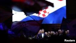 Premijer Hrvatske Andrej Plenković nakon pobjede HDZ-a na parlamentarnim izborima