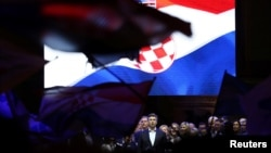 Premijer Hrvatske Andrej Plenković na skupu HDZ-a u Zagrebu, fotoarhiv