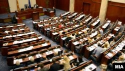 The Macedonian parliament is expected to approve the proposed referendum wording despite opposition from the nationalist VMRO-DPMNE party. (file photo)