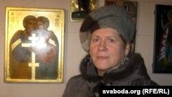 Наталя Доўнар – удзельніца пленэру іканапісу ў польскай вёсачцы Навіцы