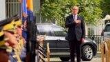Kosovo: Avdullah Hoti, new prime minister of Kosovo enters government building through state ceremony.