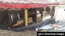 کارواش مسجد قدس تهران پس از حمله ماموران شهرداری
