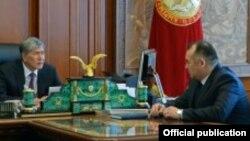 Алмазбек Атамбаев жана Кубанычбек Турдубаев. 18-февраль, 2015-жыл