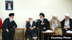 Ali Khamenei, Iran's leader, meeting a group of senior clerics-- 9 Mar 2017