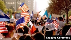 Акия иммигрантов в Лос-Анжелесе