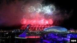 Сочидегі Олимпиада ойындарының жабылу шарасы «Фишт» стадионында өтті. 23 ақпан 2014 жыл.
