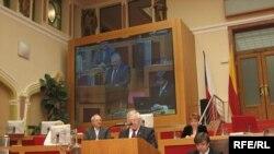 Посол України в Чехії Іван Грицак виступає на відкритті конференції