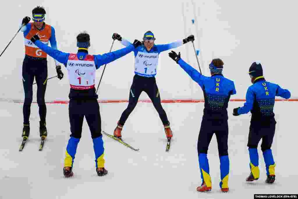 Збірна України здобула своє сьоме«золото»– змішана естафета, лижні гонки