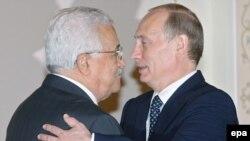 Владимир Путин и Махмуд Аббас во время одной из их предыдущих встреч