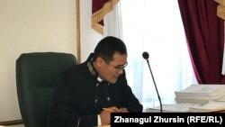Kazakhstan - The judge Serik Makhambetov. The court over bus fire in Aqtobe. 10 September 2018