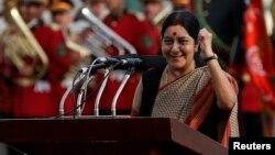 Hindistanyň daşary işler ministri Suşma Swaraj, arhiw suraty.