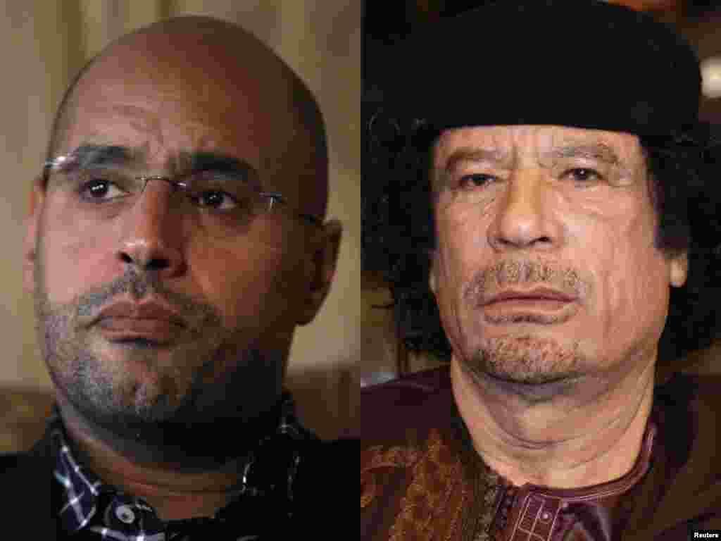 Каддафи һәм аның улы Сәйф Әль-Ислам