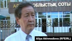 Қоғамдық кеңес мүшесі Дәрібек Қарабасов. Талдықорған, 24 қыркүйек 2012 жыл.