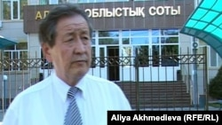 Дарибек Карабасов, член общественного совета при Алматинском областном суде. Талдыкорган, 24 сентября 2012 года.