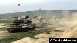 Azerbaijan -- Azerbaijani and Turkish troops hold a joint military exercise, May 1, 2019.