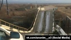 Обрушившийся мост в Бурятии