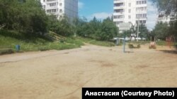 Спортплощадка в Иркутске, которую собираются благоустроить волонтёры