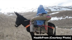 The new maternity saddle is designed to carry women in labor across Afghanistan's difficult terrain so that they can get the medical care they require.