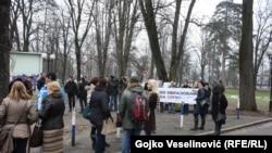 Protestno okupljanje prosvjetnih radnika u Banjaluci, 19. februar 2013.