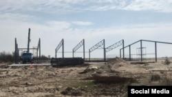 Строительство креветочной фермы на побережье между селами Штормовое и Поповка