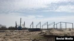 Будівництво креветкової ферми на узбережжі між селами Штормове і Попівка