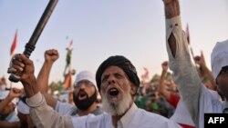 Антиправительственная демонстрация в Исламабаде, 27 августа 2014 года.