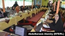 مرشحات للانتخابات البرلمانية في ورشة تدريبية بالبصرة