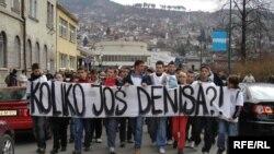 Protesti nakon ubistva Denisa Mrnjavca, prošle godine.