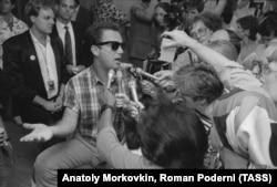 Певец Билли Джоел в Москве, 1987