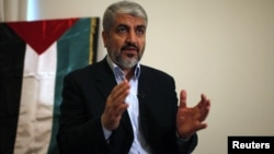 Udhëheqësi në mërgim i Hamasit, Khaled Mashaal.