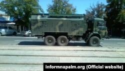 Российский комплекс РЭБ РБ-341В «Леер-3» в Донецке, лето 2015-го