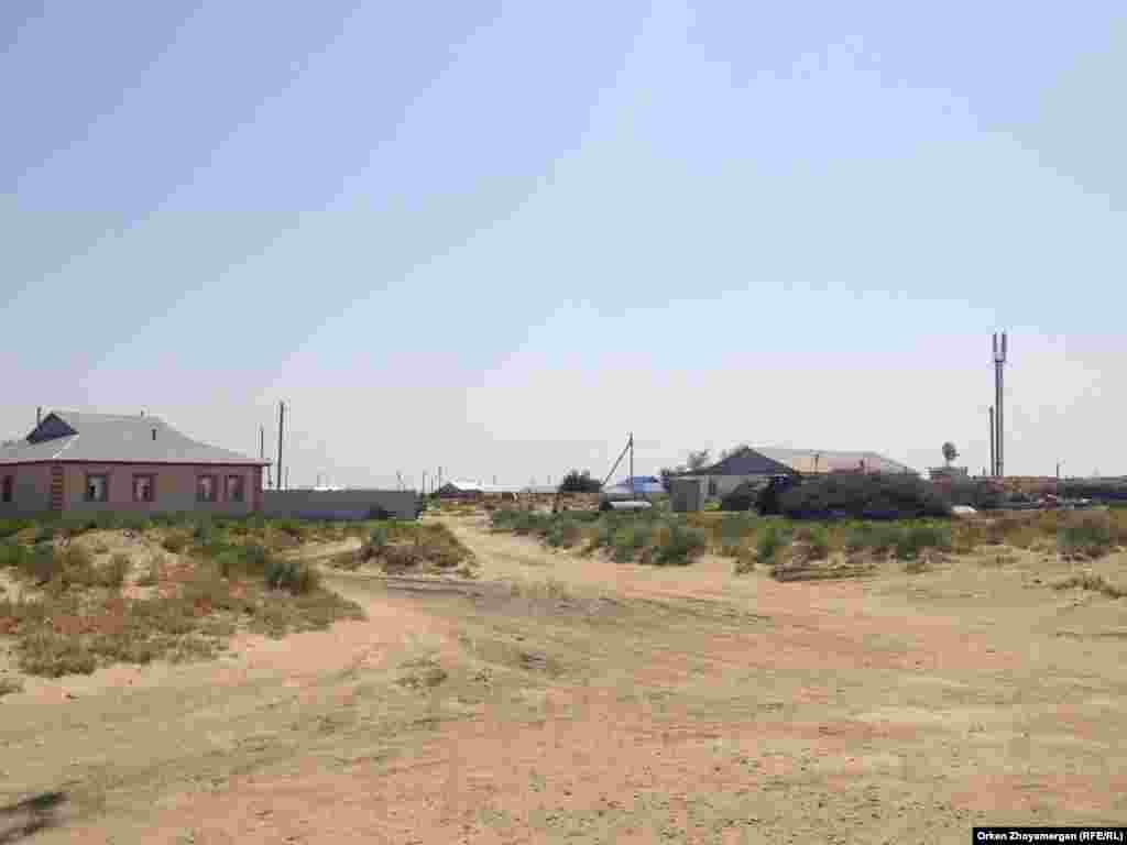 Вид на село Акбасты Аральского района.