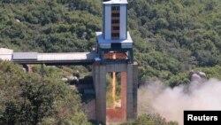 محل پرتاب راکت دور برد سوهای در کوریای شمالی