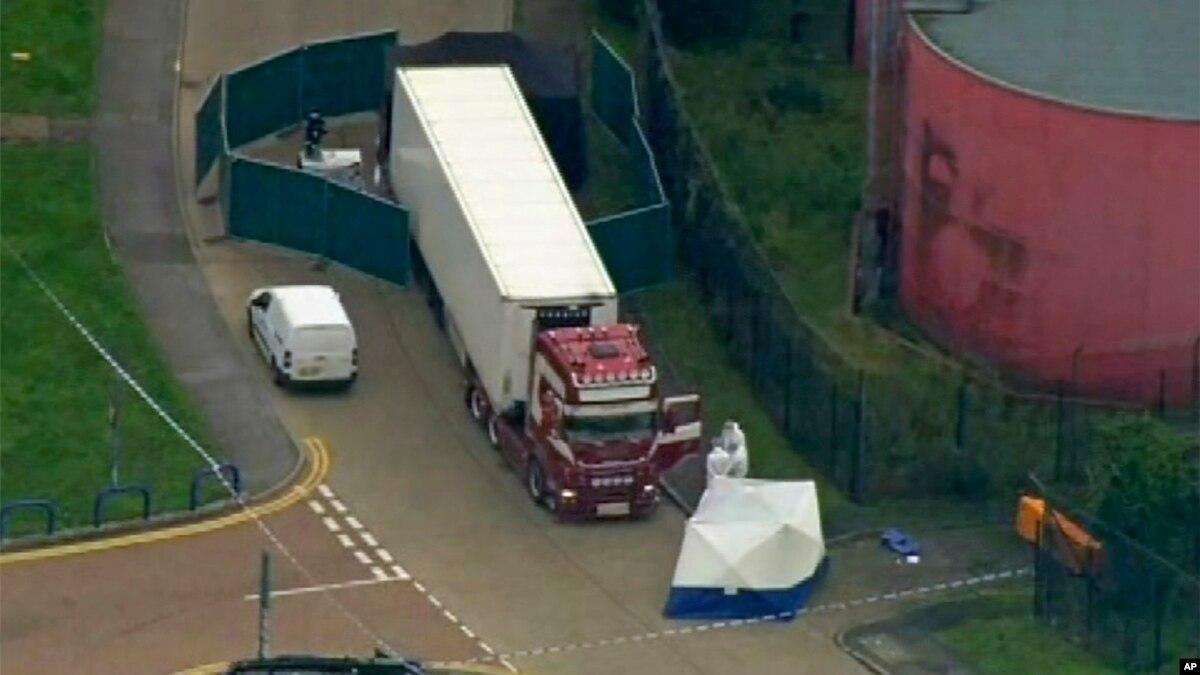 Полиция Британии: грузовик с 39 телами въехала из Бельгии, а не из Болгарии