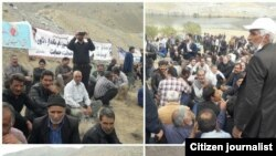 Iran - Esfahan - Farmers` Protest Against Shortage of Water