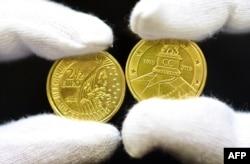 Памятные монеты, выпущенные в Бельгии к 200-летию битвы при Ватерлоо