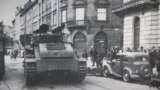 Савецкі танк Т-28 на вуліцы Львова, верасень 1939