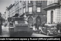 Савецкі танк у Львове