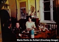 Василий Абгарович Катаньян, Лили Юрьевна Брик и Мариолина Дориа де Дзулиани, Переделкино, 1975 год