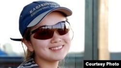 Жәния Айдарханова, стенд атудан Қазанда өткен жазғы универсиаданың қола жүлдегері (Сурет жеке мұрағаттан алынды)
